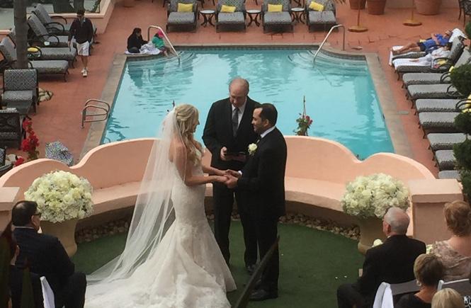 A Ceremony at La Valencia Hotel
